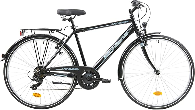 F.lli Schiano Voyager Bicicleta Trekking, Mens, Negro-Azul, 28 ...