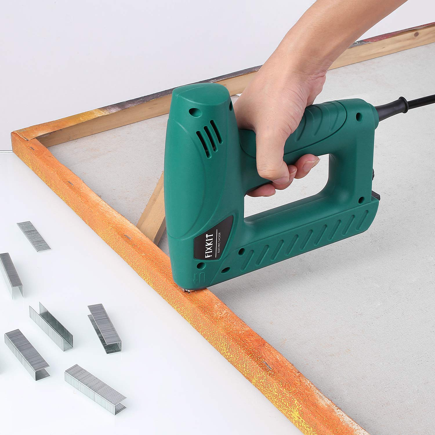 FIXKIT Electric Staple/Brad Nail Gun Hand Tacker Flooring Framing Nailers Kit, Suit For Upholstery, Fixing Material, Decoration, Carpentry, Furniture by FIXKIT (Image #6)