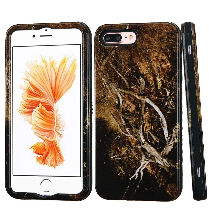 iPhone 7 Plus用MyBat VERGEハイブリッドケース - イエロー/ブラックバイン/ブラック   B01LXJDGP6