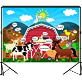 musykrafties Barn Farm Animals Party Backdrop Large Banner Decoration Dessert Table Background Photobooth Prop 7x5 feet