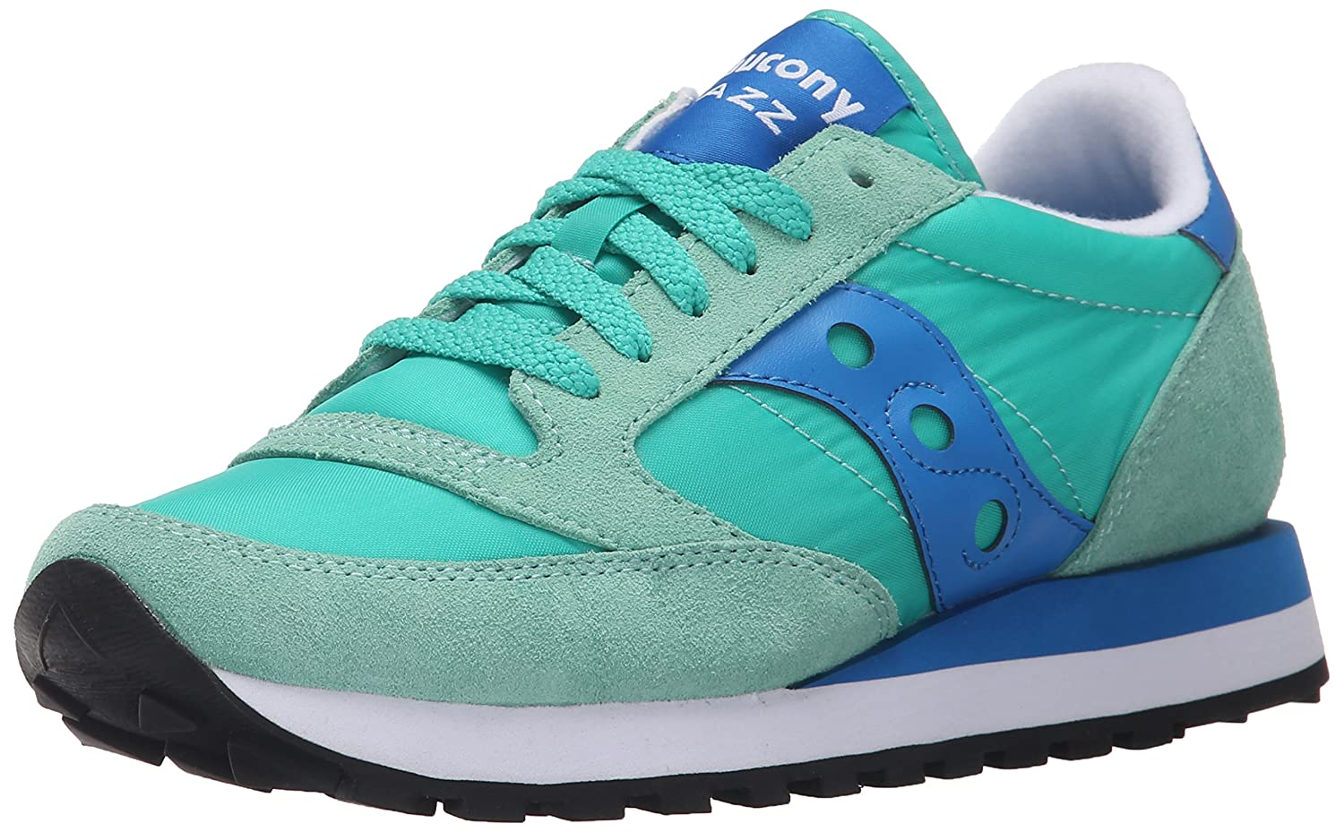 Saucony Originals Women's Jazz Original Sneaker B00XVAB014 8 M US|Light Green/Blue