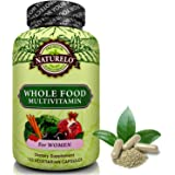 NATURELO Whole Food Multivitamin for Women - #1 Ranked - with Natural Vitamins, Minerals, Antioxidants, Organic Extracts - Vegan/Vegetarian - Best for Energy, Brain, Heart & Eye Health - 120 Capsules