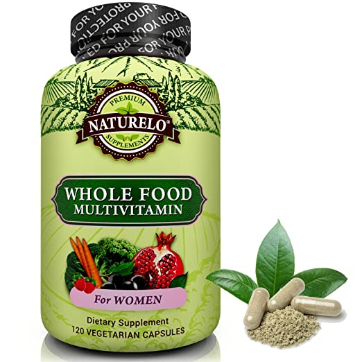NATURELO Whole Food Multivitamin from Women - Top Ranked - Natural Vitamins, Minerals, Raw Organic Extracts - Best Supplement for Energy, Immune Support, Hearth Health - Vegan - Non GMO - 120 Capsules