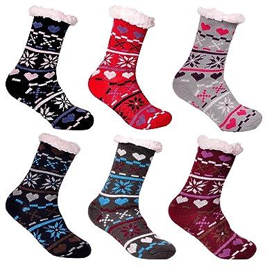 3 Paar Libella Damen Herren Bambus Socken Kuschelsocken Mit Anti