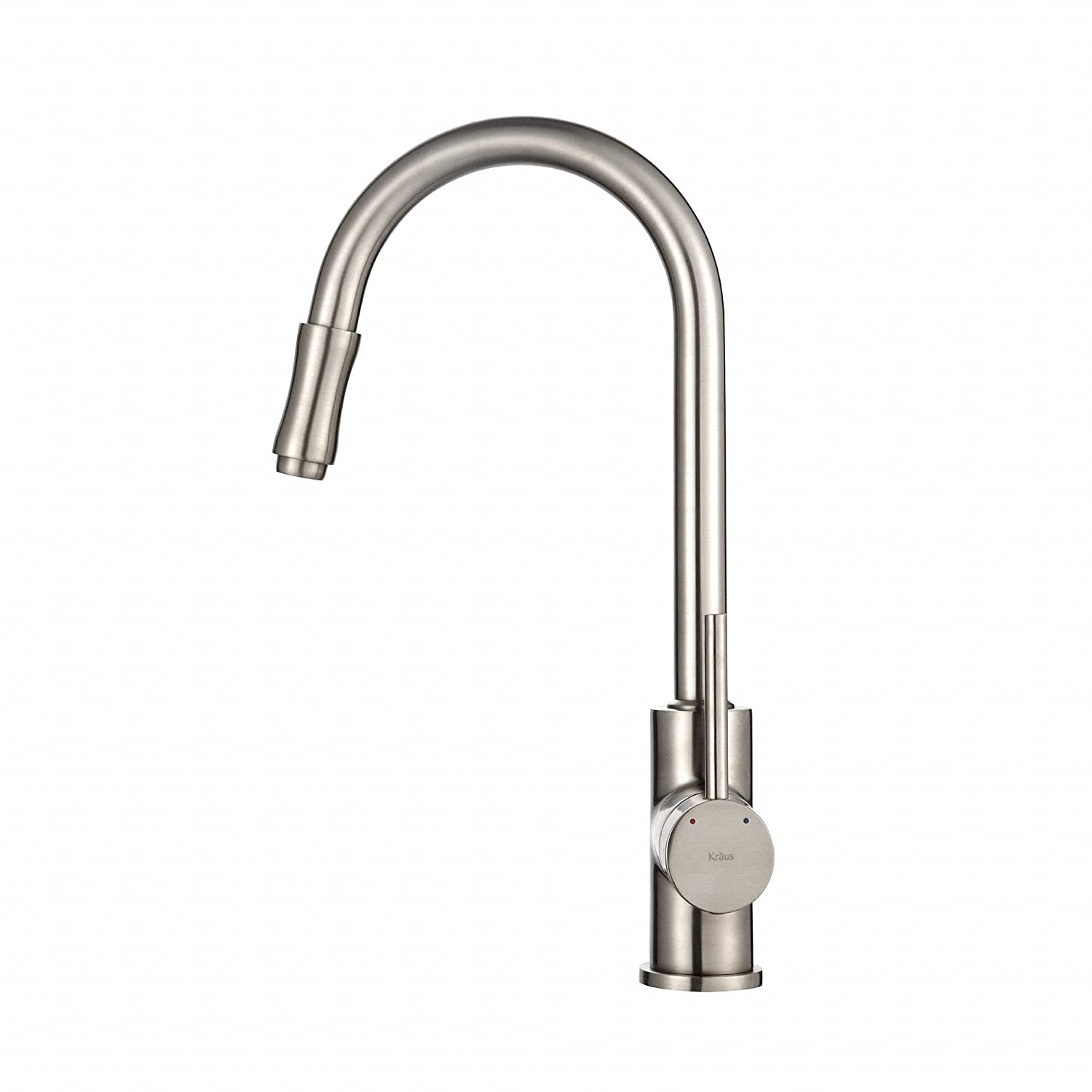 kraus kpf 1622sn single lever pull down kitchen faucet satin