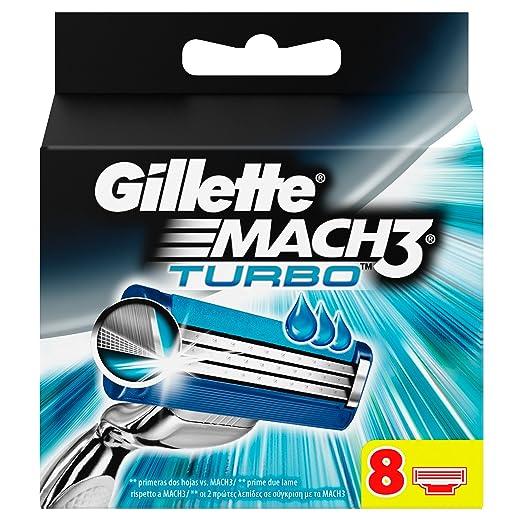 139 opinioni per Gillette Mach3 Turbo Lame per Rasoio da Uomo, 8 Pezzi