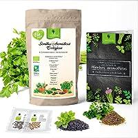 Set de Semillas aromáticas ecológicas huerto urbano. 7 variedades, ideal jardineras, mesa de cultivo o jardin vertical…