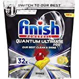 Finish Powerball Quantum Ultimate Pro Dishwasher Tablets, 32 Pack, Lemon Sparkle