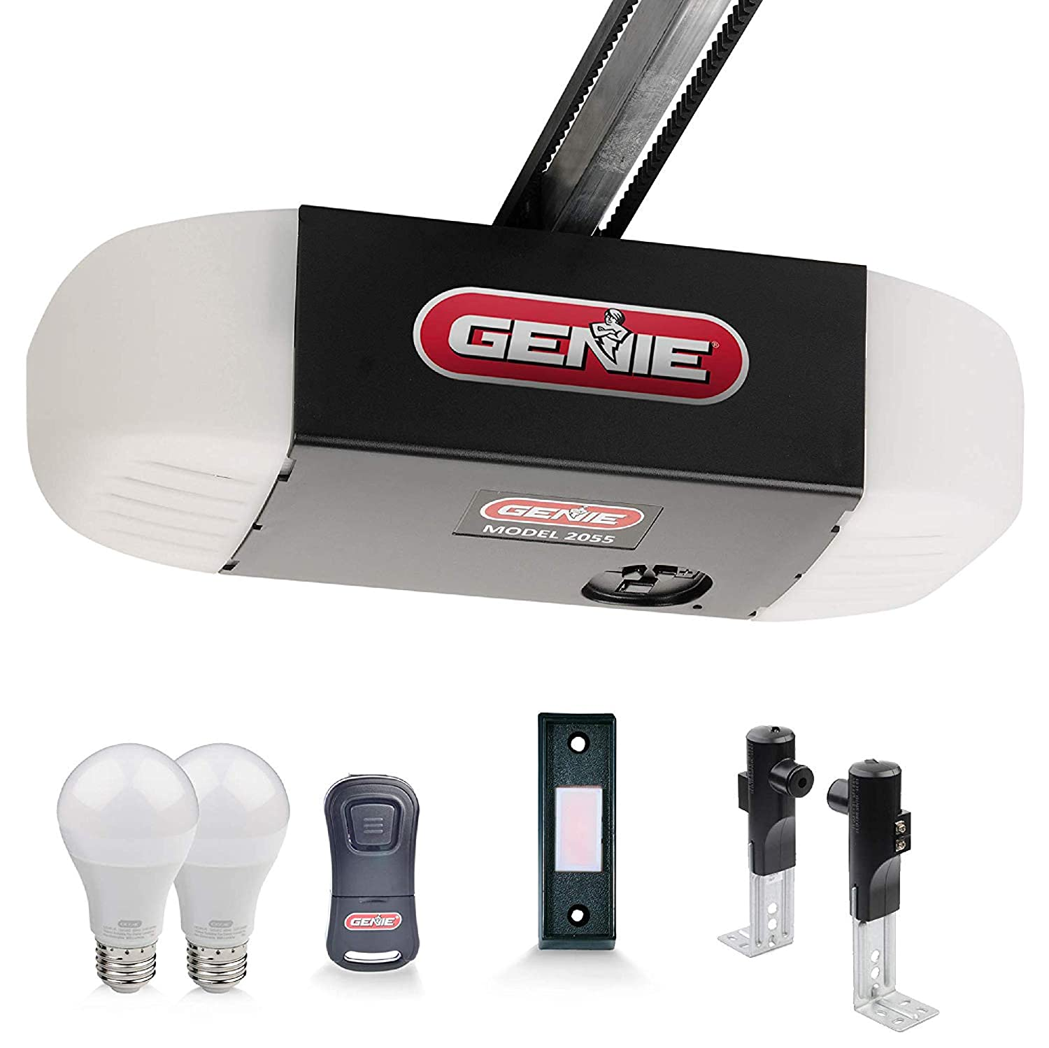 Genie 2055-LED Stealth 500 Essentials, LED Bulbs Included, Ultra-Quiet Belt Drive Garage Door Opener