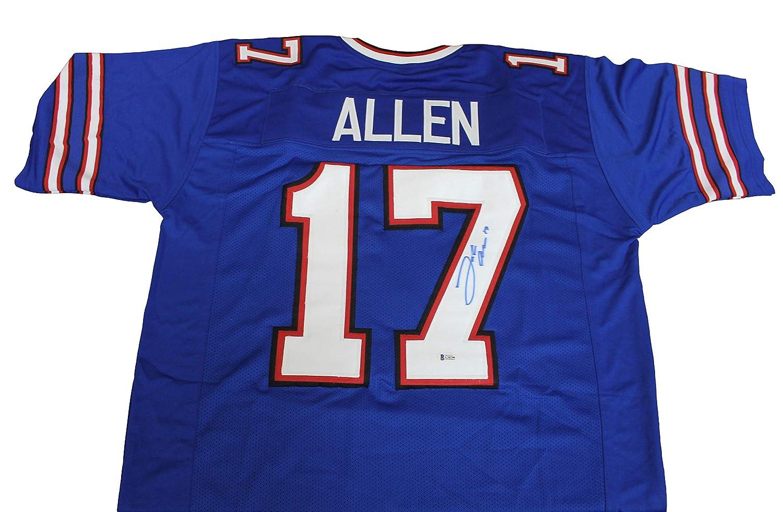 Josh Allen Autographed Buffalo Bills Blue Custom Jersey w/Beckett COA