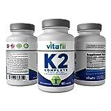 Vitafii Vitamin K2 (MK4 and MK7) with D3