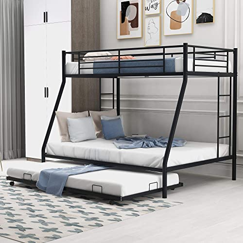 P PURLOVE Twin Over Full Bunk Bed Metal Bunk Bed