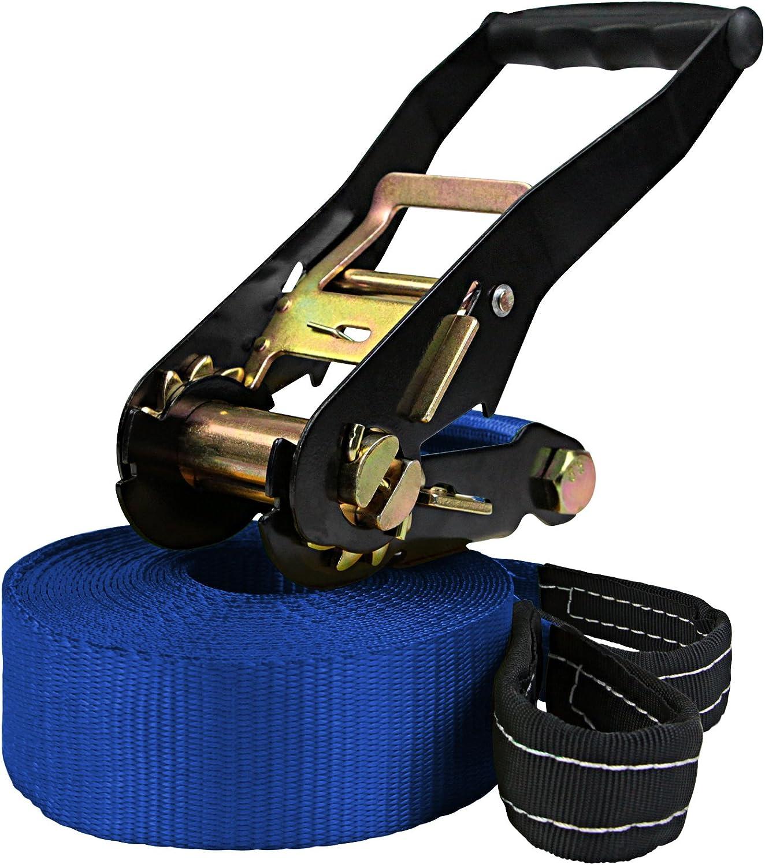 Protector de trinquete 2 x Protector de /árbol ALPIDEX Slackline 15 m 2t Color:Azul