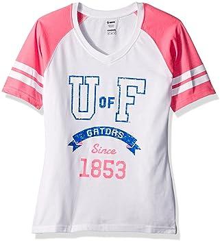Soffe mujeres de Florida Gator S/S camiseta de fútbol, mujer, Football Tee, blanco y rosa: Amazon.es: Deportes y aire libre