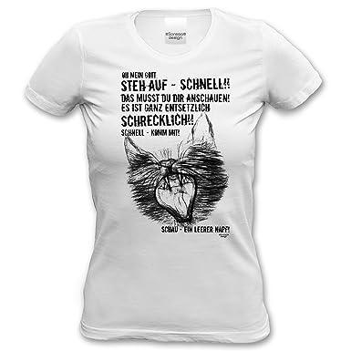 Leerer Ein Napf Shirt Damen Fun Sprüche T KatzenmotivLustiges 0Pk8Onw