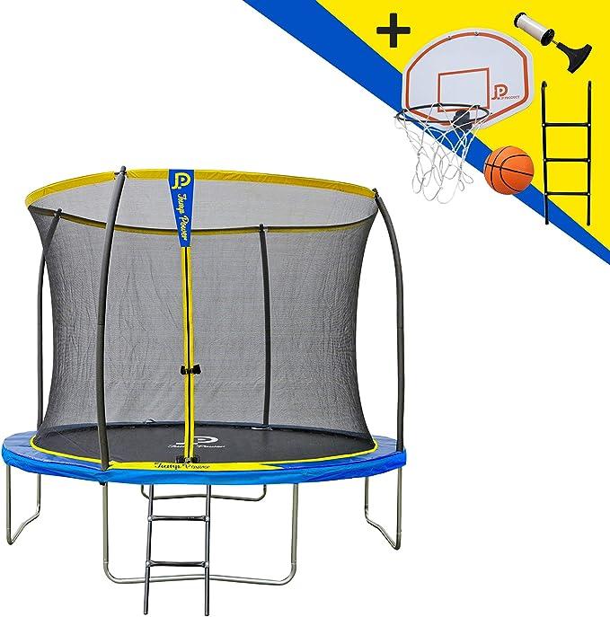 JUMP POWER - Cama elástica con Escalera y Cesta de Baloncesto ...