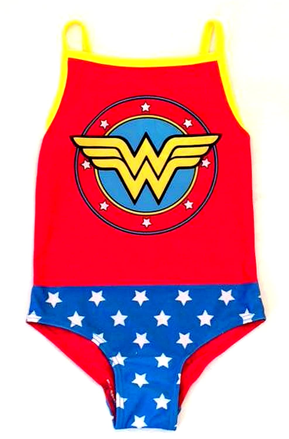 DC Comics Girls Wonder Woman Swimsuit, Swimming Costume - Ages 2/3, 3/4,4/5, 5/6 yrs