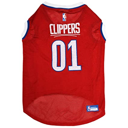 0d13e30e14f NBA LOS ANGELES CLIPPERS DOG Jersey, Small - Tank Top Basketball Pet Jersey