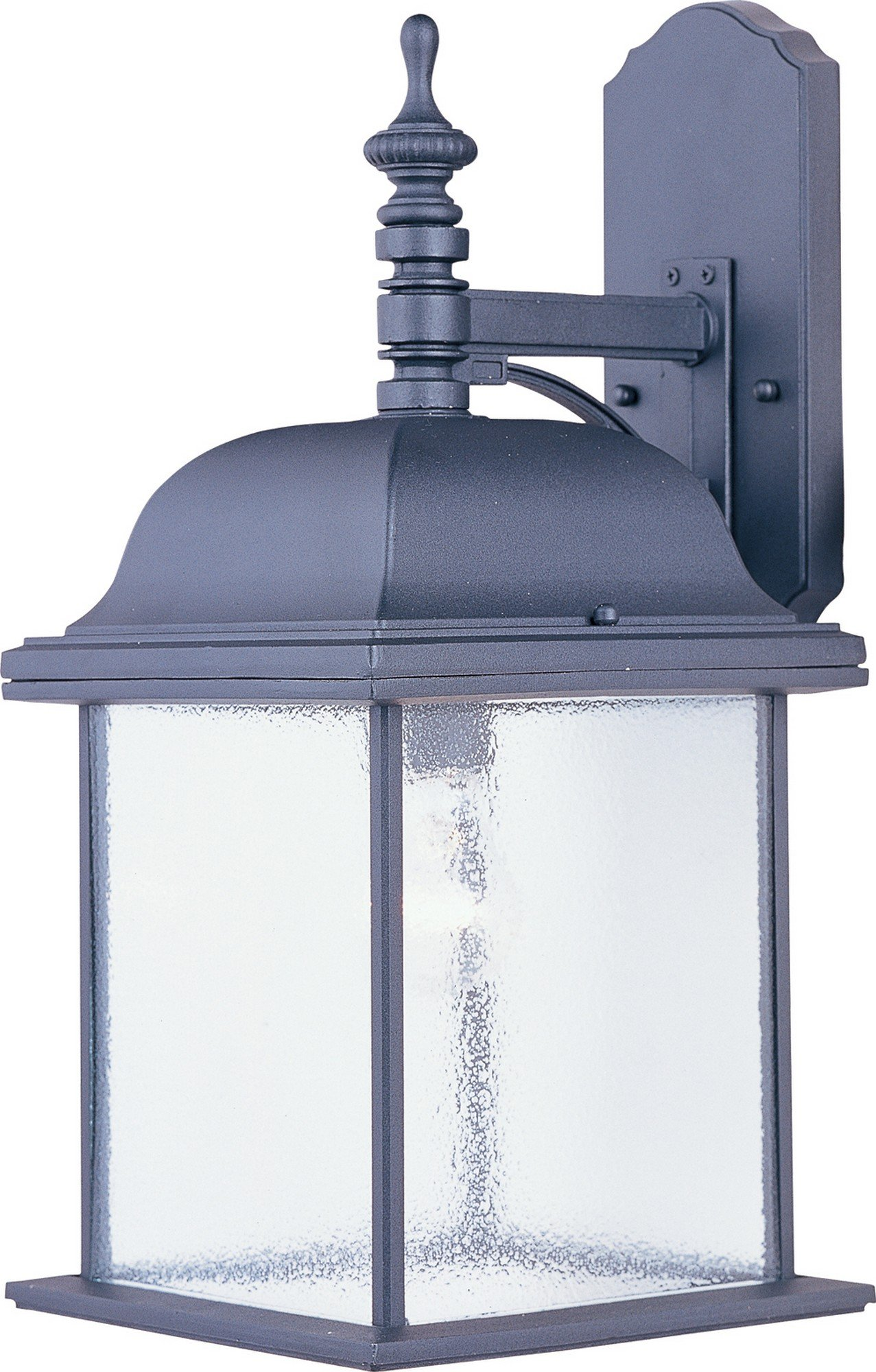 Maxim 1057BK Senator 1-Light Outdoor Wall Lantern, Black Finish, Seedy Glass, MB Incandescent Incandescent Bulb , 100W Max., Dry Safety Rating, Standard Dimmable, Glass Shade Material, 5750 Rated Lumens
