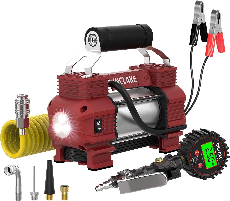 Portable Air Compressor-Tire Pressure Gauge