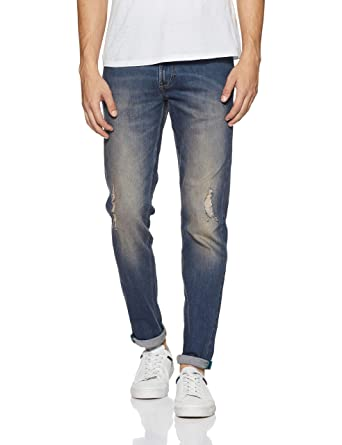 United Colors of Benetton Men s Tapered Fit Jeans  Amazon.in  Clothing    Accessories a14d186b55d8
