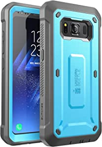 SUPCASE Unicorn Beetle Pro Series Case Designed for Samsung Galaxy S8 Active 2017 Release,Full-Body Rugged Holster Case with Built-in Screen Protector (Blue/Gray)