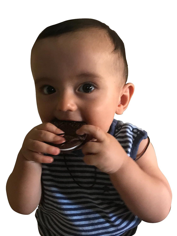 Noir Sans BPA BIO et Naturel Jouet pour soulager la g/êne des dents et des gencives Ecologique Anneau de Dentition Biscuit en Silicone Antibact/érien pour B/éb/és