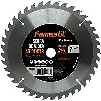 "Serra de Vídea Famastil – 7 1/4"" – 185 x 20mm – 40 Dentes – Lâmina de Serra Circular para acabamentos em MDF…"