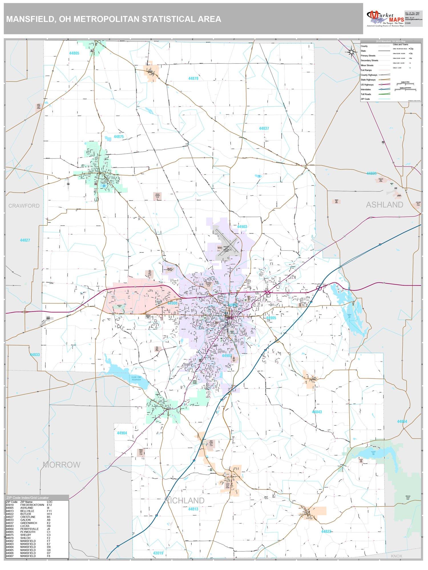 Amazon.com: MarketMAPS: Ohio Metro Maps on