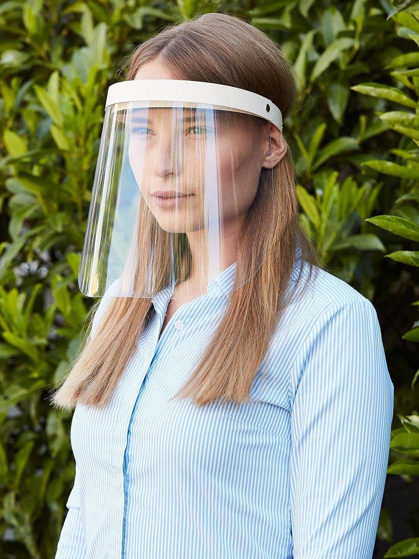 Visier Gesichtsschutz Schutz Verstellbar Aufklappbar Gesichtsschutzschild Augenschutz Nasen Augen Spritzschutz vor Fl/üssigkeit Face Shield Gesichtsvisier Spuckschutz