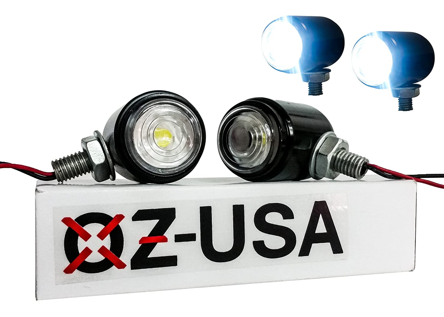Oz Usa Motorcycle Cree Lights High Output Led Fog Street Likewise Wiring 12 Volt Further Basic Touring Cruiser Dual Sport Offroad Automotive