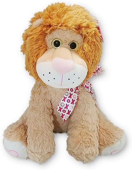 Blue Big Teddy Bear, Amazon Com Hugfun Xoxo Fluffy Lion Stuffed Animal Plush Doll Large 15 In Jungle Safari Valentine S Day Birthday Christmas Just Because Toys Games