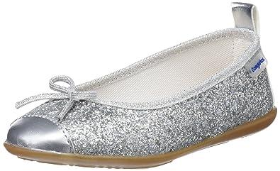 Conguitos Mädchen Mercedes Glitter Mary Jane Halbschuhe, Silber (Plata), 27 EU