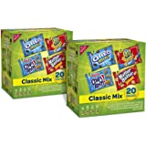 Nabisco Classic Cookie and Cracker Mix Variety Snack Packs, 20 Count Box (Pack of 2)