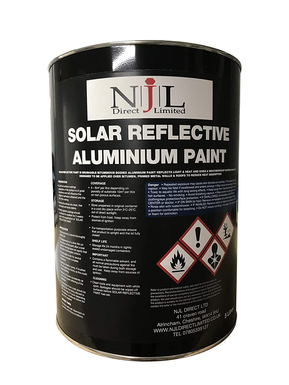 5 Litre Aluminium Paint Solar Reflective Roof Coating Paint