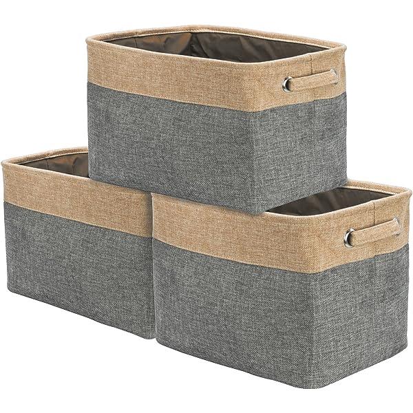 - 15 L x 10 W x 9 H 3-Pack Sorbus Storage Large Basket Set Big...