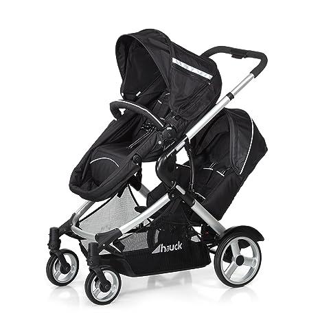 Hauck Duett - Carrito de bebé para 2 niños de diferentes edades, silla superior convertible