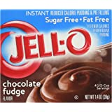 JELL-O SUGAR FREE CHOCOLATE FUDGE INSTANT REDUCED CALORIE PUDDING AND PIE FILLING 1 x 39g BOX JELLO
