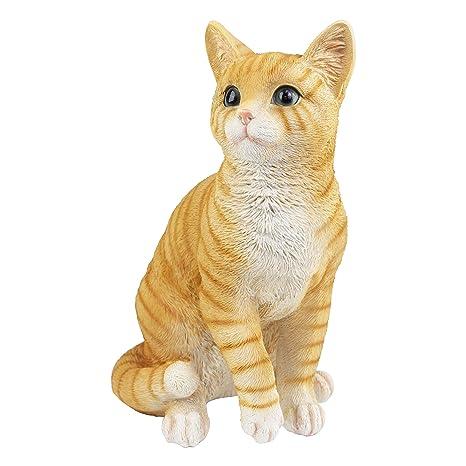 Figura decorativa realista en forma de gato sentado de 30cm, ...