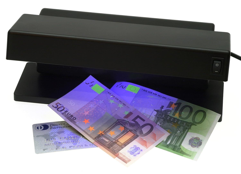 GENIE MD Detector de billetes falsos con tubos UV negro