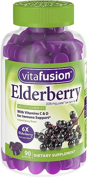 Vitafusion Elderberry Adult Gummies 90 Count
