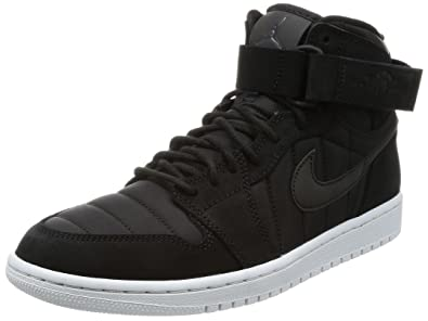 f707467d2f490e Nike Men s Air Jordan 1 High Strap Black   - Pure Platinum High-Top  Basketball