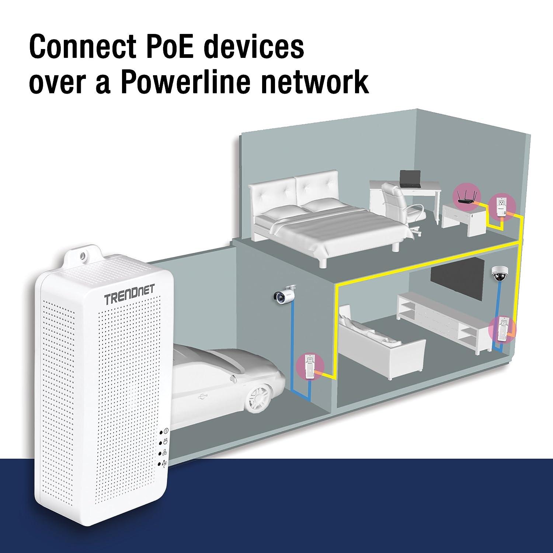 Amazon Trendnet Powerline 200 Av Poe Adapter Kit Output Port