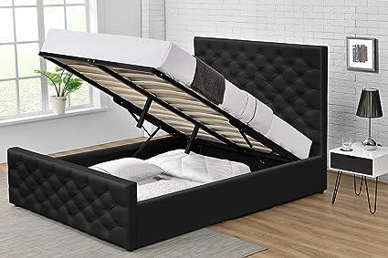 Comforium - Cama de 160 x 200 cm, diseño con baúl y cabecero ...
