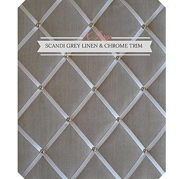 Amazon.com: X Gran tamaño gris claro lino Memo Junta con ...
