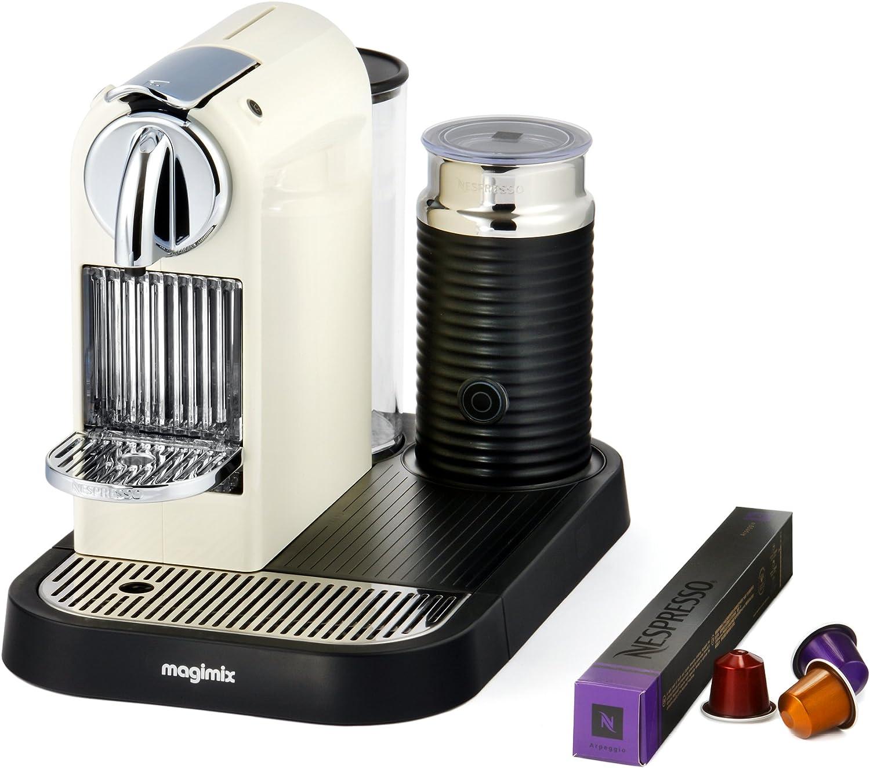 Nespresso CitiZ & Milk M190 - Cafetera de cápsulas, 1710 W, color crema: Amazon.es: Hogar