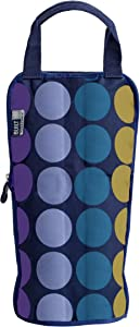 Built NY IceTec Freezable Wine and Champagne Chiller Bag, Plum Dot