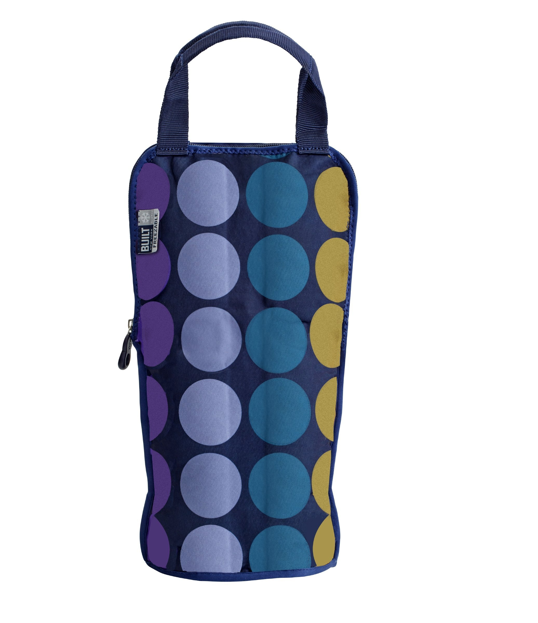 Built 5178239 NY IceTec Freezable Wine and Champagne Chiller Bag, Plum Dot