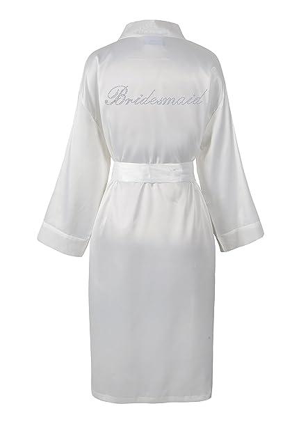 Varsany - Bata de baño para dama de boda, personalizada, de forro