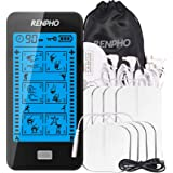 RENPHO TENS Unit Touchscreen for Home Use, 24 Modes Dual Channel TENS Machine Rechargeable with 8pcs Electrode Pads…